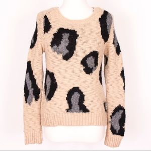 Anthropologie Sleeping on Snow mohair knit sweater